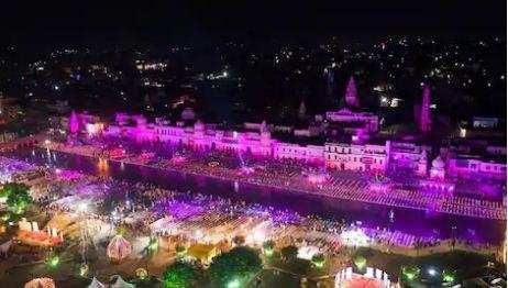 हजारों दीपों से जगमगाई अयोध्या, आज PM मोदी रखेंगे राम मंदिर की पहली ईंट