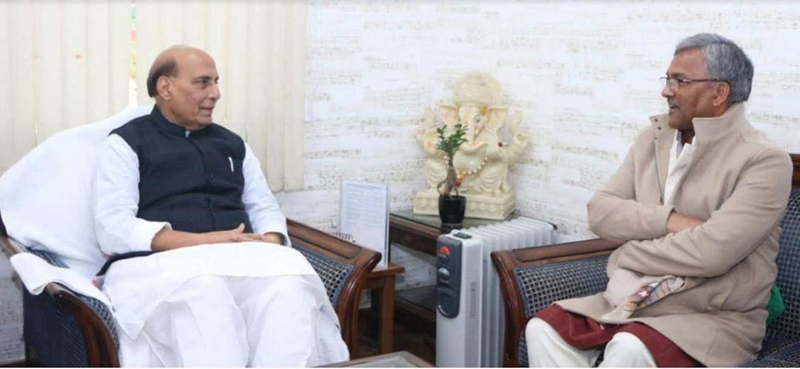 रक्षा मंत्री राजनाथ सिंह से मिले मुख्यमंत्री, किया ये अनुरोध