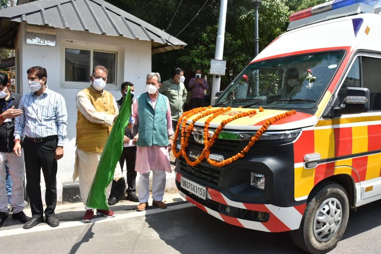 उत्तराखंड को मिली 132एम्बुलेन्स,CM ने कहा-जनता को किसी तरह की कोई परेशानी नहीं होने दी जाएगी