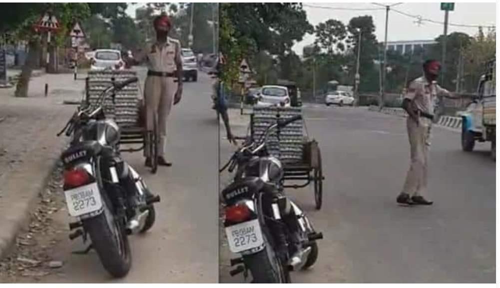 बड़ी मासूमियत से पुलिसकर्मी ने चुराए अंडे, वायरल हुआ वीडियो, सस्पेंड