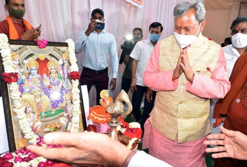 हरिद्वार | तीरथ ने लिया साधु-संतो का आशीर्वाद, कहा-कुंभ उपासना का केंद्र एवं भावना का विषय है