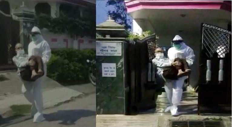 मुश्किल वक्त में देवदूत बनी उत्तराखंड पुलिस, PPE किट पहनकर संक्रमित को पहुंचाया अस्पताल