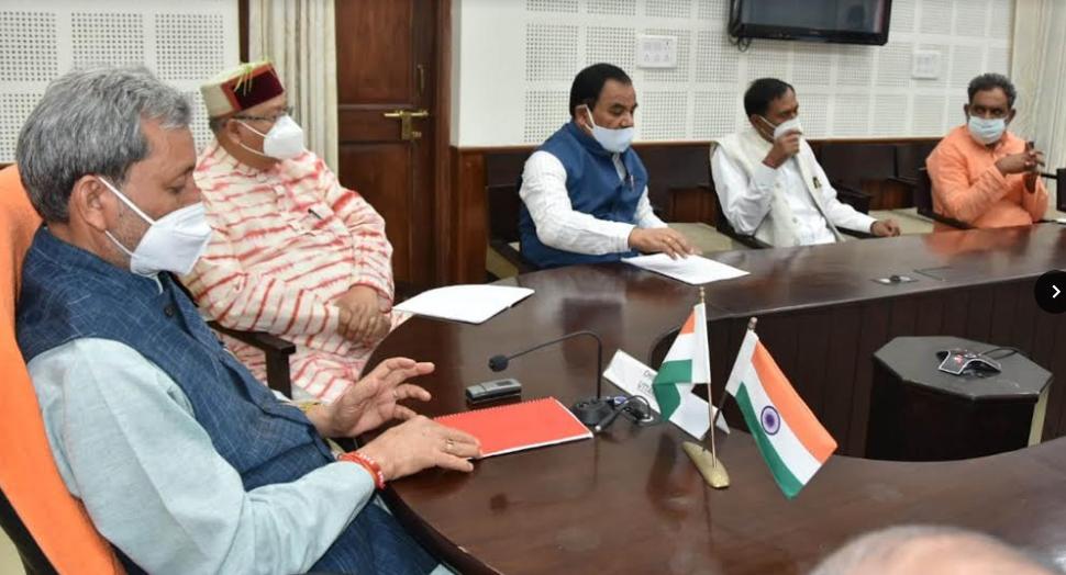 मुख्यमंत्री ने प्रदेश में कोविड-19 की स्थिति पर मंत्रिगणो के साथ कियाविचार विमर्श